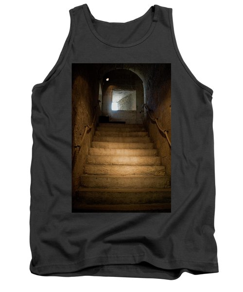 Tank Top featuring the photograph Up The Ancient Stairs by Lorraine Devon Wilke