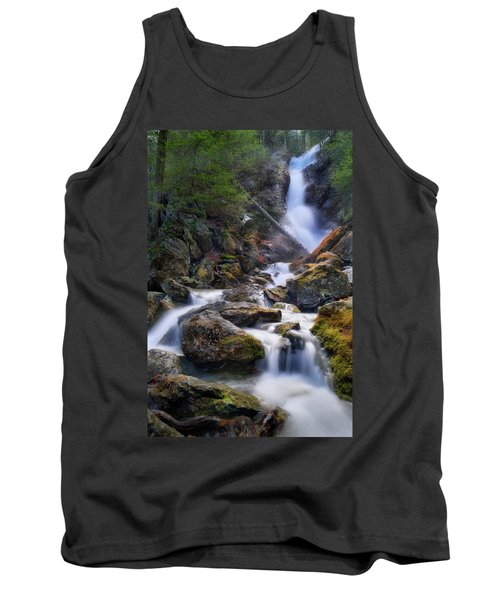 Tank Top featuring the photograph Upper Race Brook Falls 2017 by Bill Wakeley