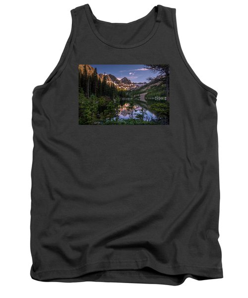 Upper Slate Lake Evening Glow Tank Top by Michael J Bauer