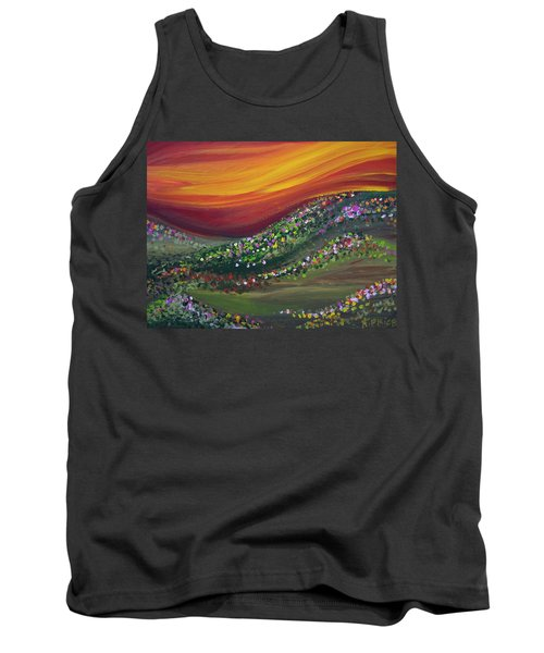 Tank Top featuring the painting Ups And Downs by Ashley Price