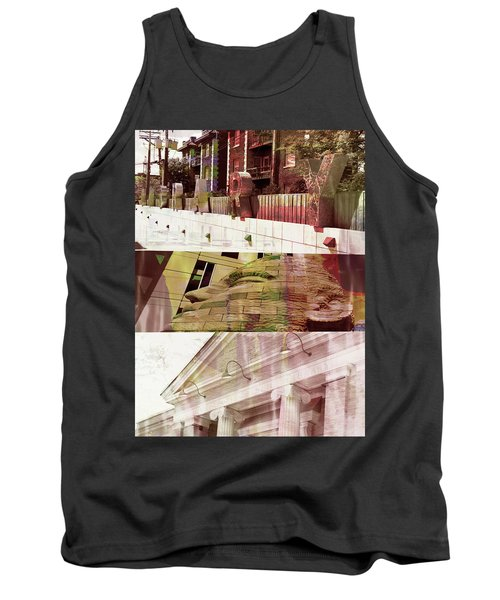 Tank Top featuring the photograph Uptown Library With Color by Susan Stone
