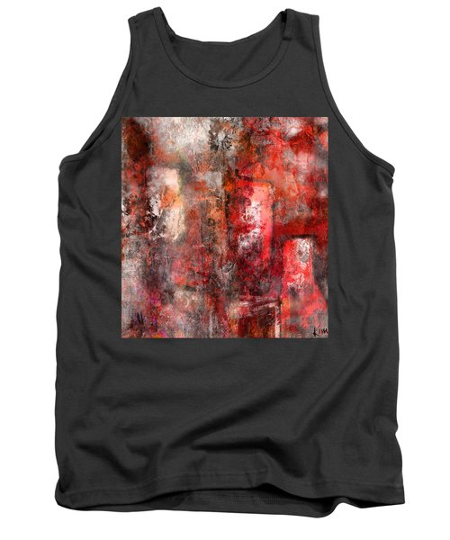 Tank Top featuring the mixed media Urban #5 by Kim Gauge