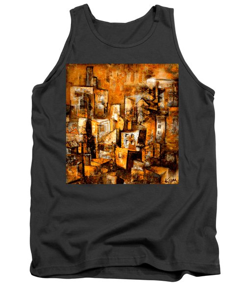Tank Top featuring the mixed media Urban Abstract #1 by Kim Gauge
