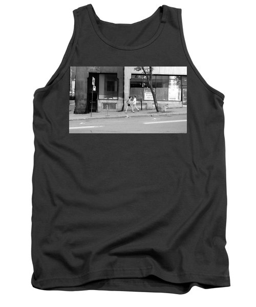 Tank Top featuring the photograph Urban Encounter by Valentino Visentini