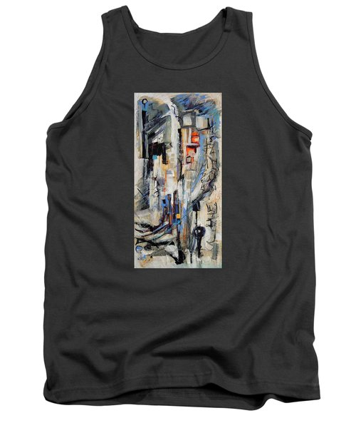 Tank Top featuring the painting Urban Street 2 by Mary Schiros
