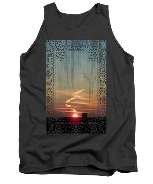 Tank Top featuring the painting Urban Sunrise by Ivana Westin