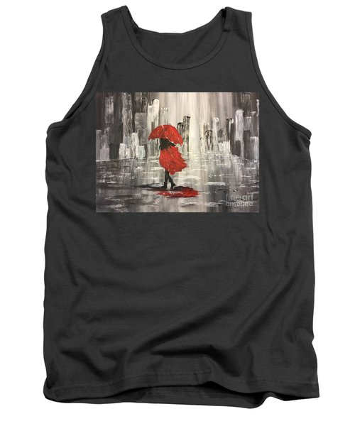 Urban Walk In The Rain Tank Top by Lucia Grilletto