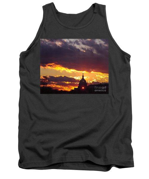 U.s. Capitol Dome At Sunset Tank Top