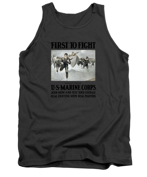 Us Marine Corps - First To Fight  Tank Top by War Is Hell Store