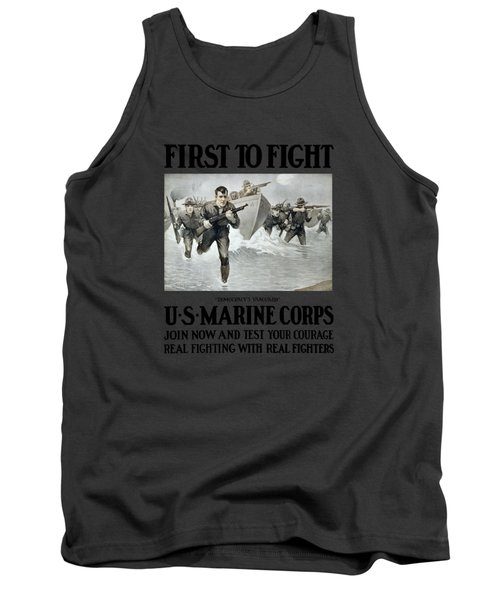 Us Marine Corps - First To Fight  Tank Top