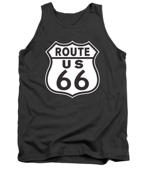 Us Route 66 Sign Tank Top