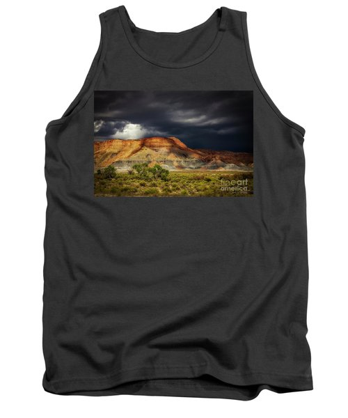 Tank Top featuring the photograph Utah Mountain With Storm Clouds by John A Rodriguez