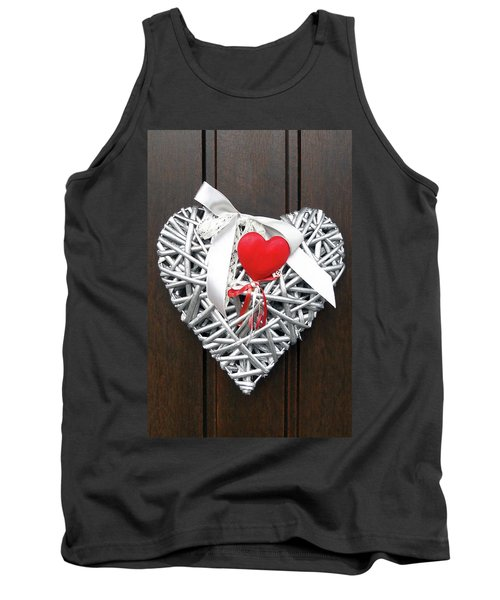 Tank Top featuring the photograph Valentine Heart by Juergen Weiss
