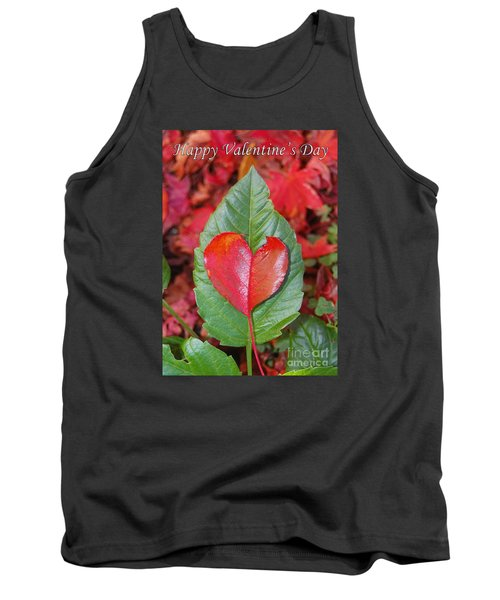 Valentine's Day Nature Card Tank Top