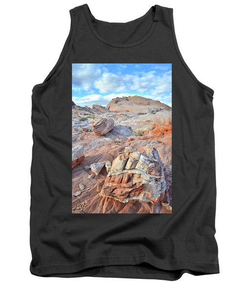 Valley Of Fire Boulders Tank Top by Ray Mathis