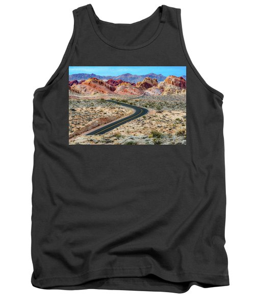 Road Through The Valley Of Fire Tank Top
