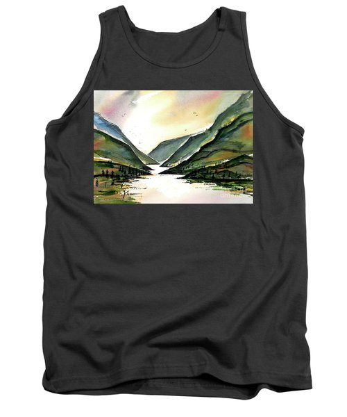 Tank Top featuring the painting Valley Of Water by Terry Banderas