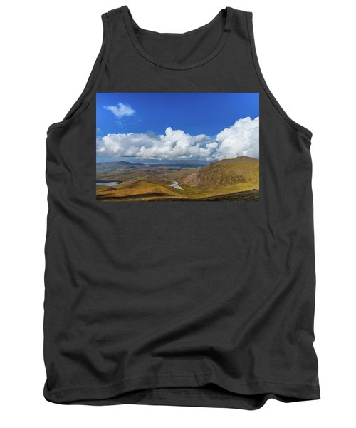 Tank Top featuring the photograph Valleys And Mountains In County Kerry On A Summer Day by Semmick Photo