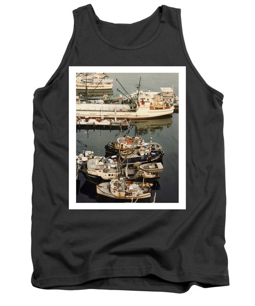 Tank Top featuring the photograph Vancouver Harbor Fishin Fleet by Jack Pumphrey