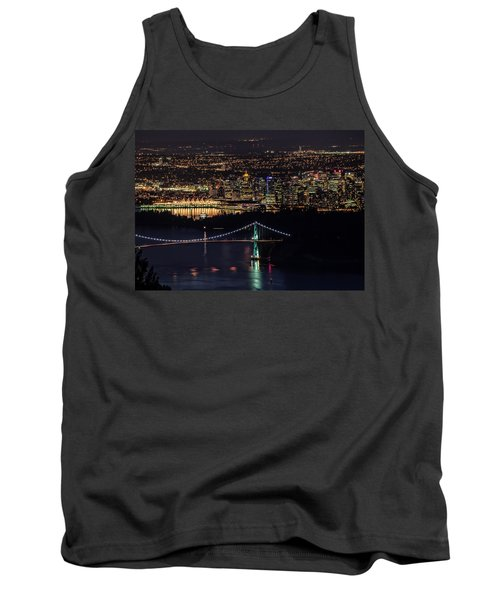 Vancouver Night From Cypress Mountain Tank Top