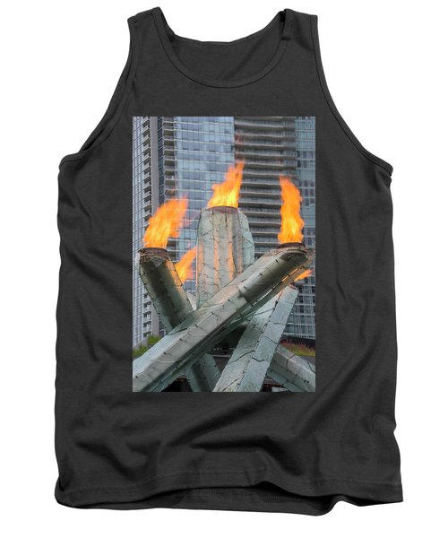 Vancouver Olympic Cauldron Tank Top by Ross G Strachan
