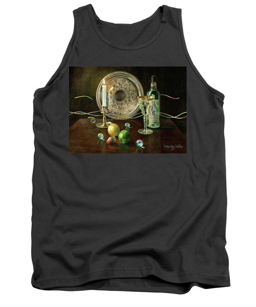 Vanitas Still Life By Candlelight With Les Bourgeois Wine Tank Top