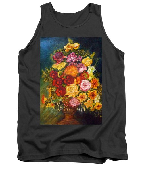 Vase With Flowers Tank Top