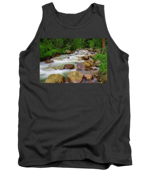 Velvet Green Forest Tank Top by Tim Reaves