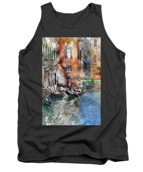 Venetian Gondolier In Venice Italy Tank Top