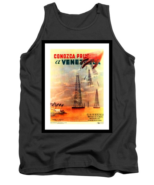 Venezuela Tourism Petroleum Art 1950s Tank Top