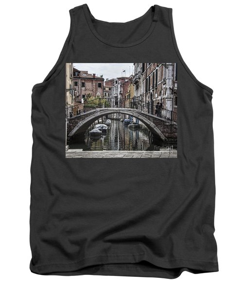 Tank Top featuring the photograph Venice Crossing by Shirley Mangini