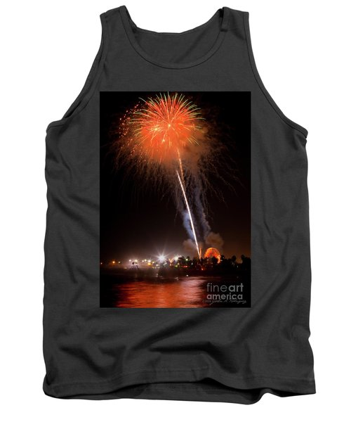 Tank Top featuring the photograph Ventura California Fair Fireworks by John A Rodriguez
