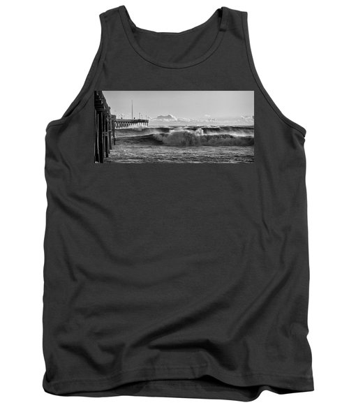 Tank Top featuring the photograph Ventura Pier El Nino 2016 by John A Rodriguez