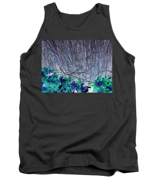 Venus Blue Botanical Tank Top