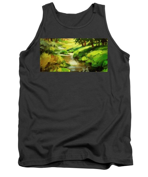 Tank Top featuring the painting Verdant Banks by Steve Henderson