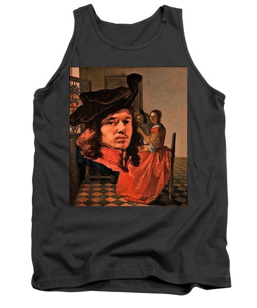 Vermeer Study In Orange Tank Top