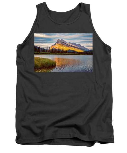 Vermillion Lakes And Mt Rundle II Tank Top