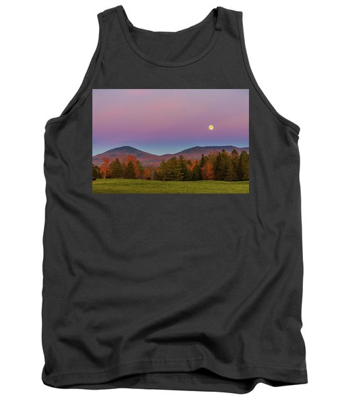 Vermont Fall, Full Moon And Belt Of Venus Tank Top by Tim Kirchoff