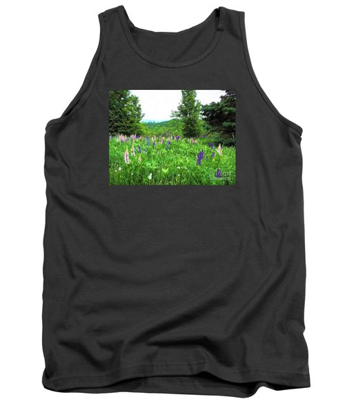 Tank Top featuring the painting Vermont Lupine by Mim White
