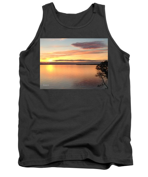 Tank Top featuring the photograph Vermont Sunset, Lake Champlain by Felipe Adan Lerma