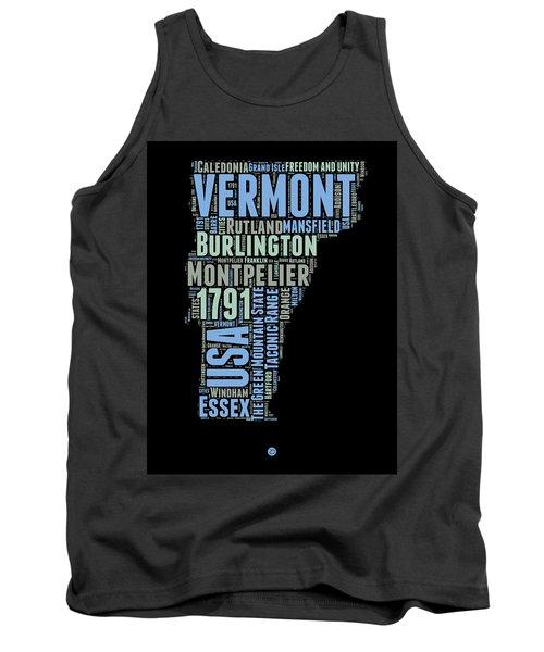 Vermont Word Cloud 1 Tank Top