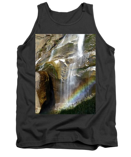 Vernal Falls Rainbow And Plants Tank Top by Amelia Racca