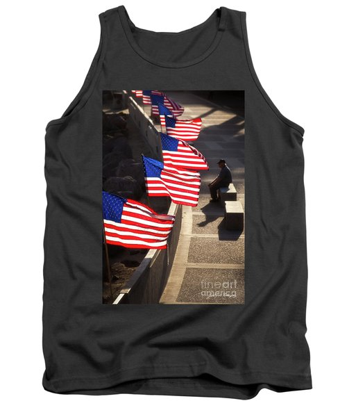 Veteran With Our Nations Flags Tank Top