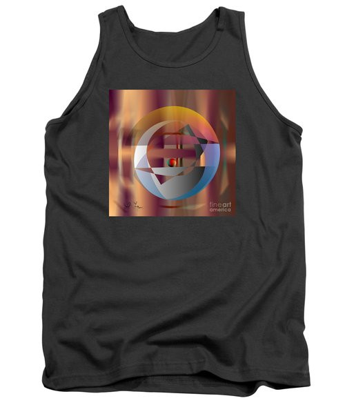Tank Top featuring the digital art Vicious Circle by Leo Symon