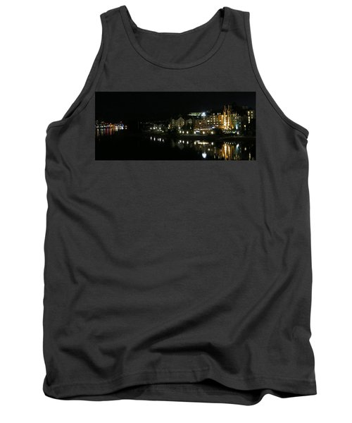 Victoria Harbor Night View Tank Top by Betty Buller Whitehead