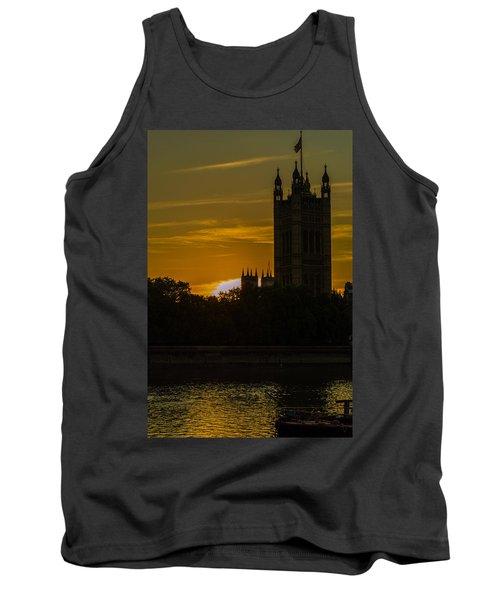 Victoria Tower In London Golden Hour Tank Top
