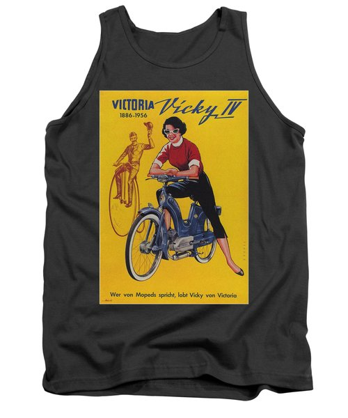 Victoria Vicky Iv - Motorcycle - Vintage Advertising Poster Tank Top