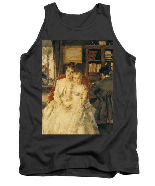 Victorian Family Scene Tank Top