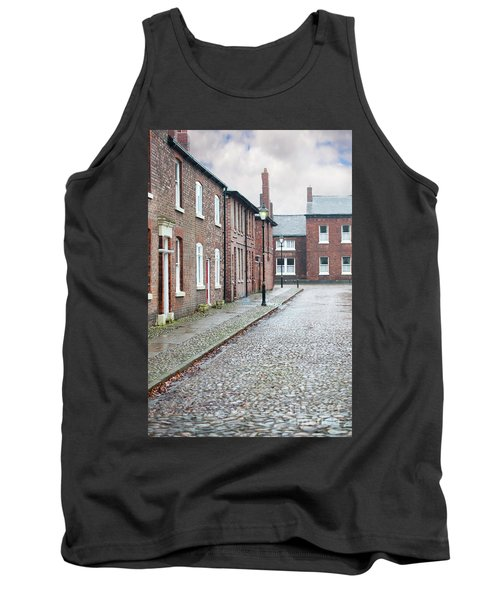 Victorian Terraced Street Of Working Class Red Brick Houses Tank Top by Lee Avison