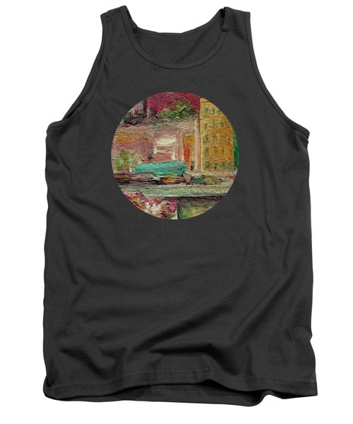Tank Top featuring the painting View From A Balcony by Mary Wolf